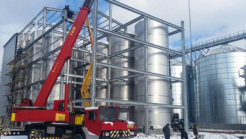 konstrukcja hali w Biogazowni